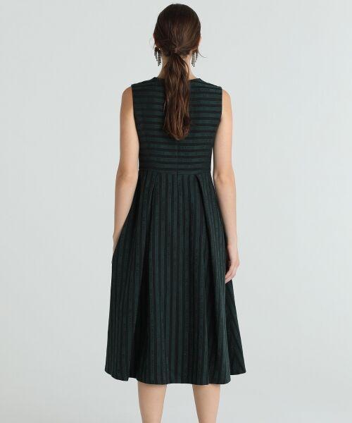 GRACE CONTINENTAL / グレースコンチネンタル ドレス | ラインロゴジャガードドレス | 詳細4