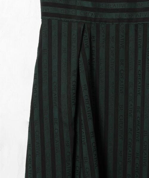 GRACE CONTINENTAL / グレースコンチネンタル ドレス | ラインロゴジャガードドレス | 詳細7