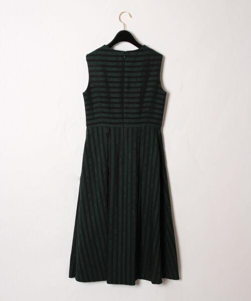 GRACE CONTINENTAL / グレースコンチネンタル ドレス | ラインロゴジャガードドレス | 詳細9
