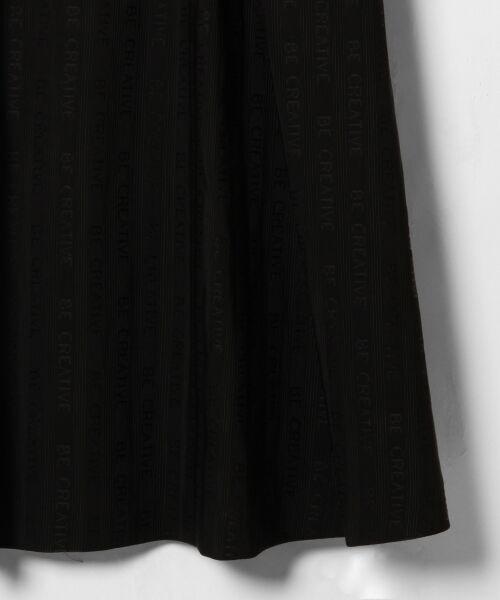 GRACE CONTINENTAL / グレースコンチネンタル ドレス | ラインロゴジャガードドレス | 詳細11