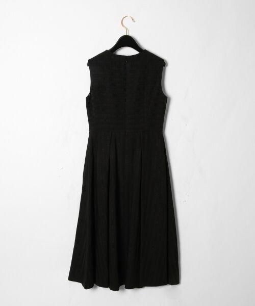 GRACE CONTINENTAL / グレースコンチネンタル ドレス | ラインロゴジャガードドレス | 詳細12