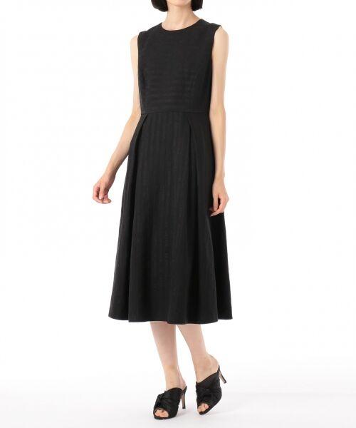 GRACE CONTINENTAL / グレースコンチネンタル ドレス | ラインロゴジャガードドレス | 詳細14