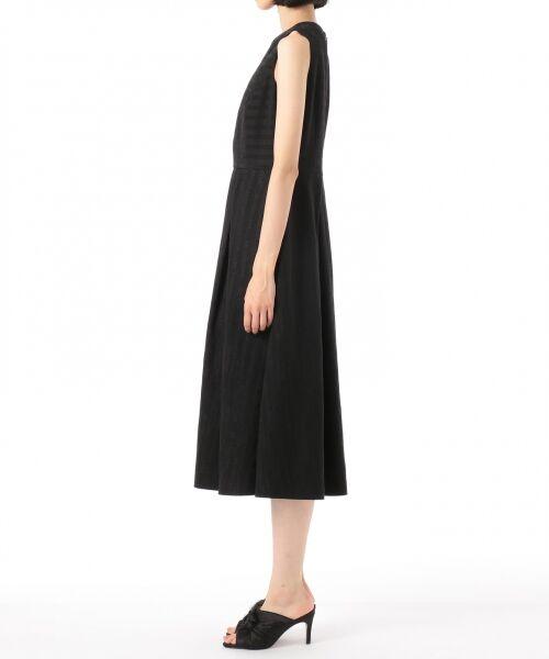 GRACE CONTINENTAL / グレースコンチネンタル ドレス | ラインロゴジャガードドレス | 詳細15