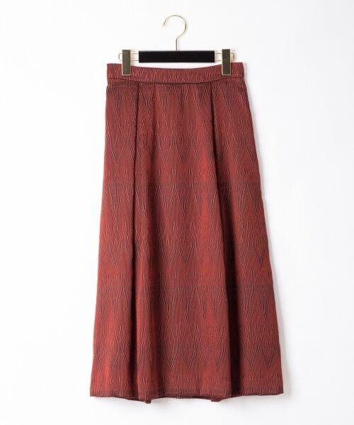 GRACE CONTINENTAL / グレースコンチネンタル ミニ・ひざ丈スカート | カラミキカスカート(レッド)