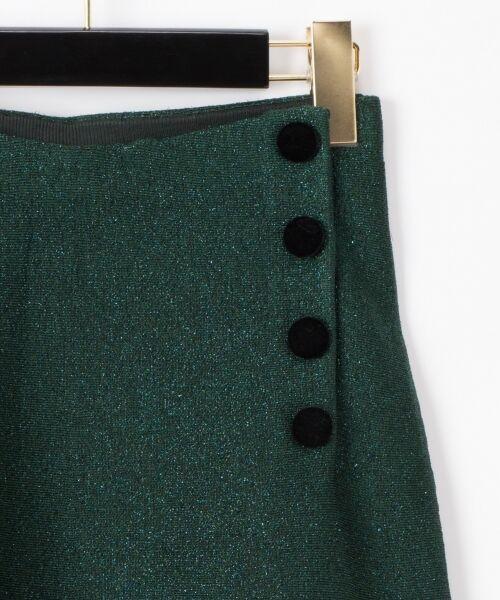 GRACE CONTINENTAL / グレースコンチネンタル ミニ・ひざ丈スカート | ラメニットスカート | 詳細1