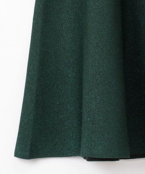 GRACE CONTINENTAL / グレースコンチネンタル ミニ・ひざ丈スカート | ラメニットスカート | 詳細3