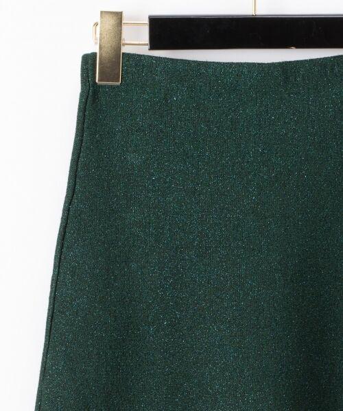 GRACE CONTINENTAL / グレースコンチネンタル ミニ・ひざ丈スカート | ラメニットスカート | 詳細5