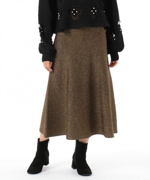 GRACE CONTINENTAL / グレースコンチネンタル ミニ・ひざ丈スカート | ラメニットスカート | 詳細16