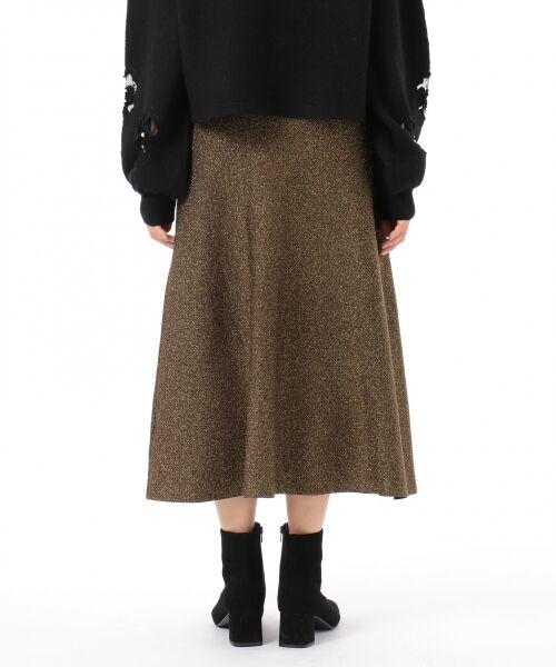 GRACE CONTINENTAL / グレースコンチネンタル ミニ・ひざ丈スカート | ラメニットスカート | 詳細18