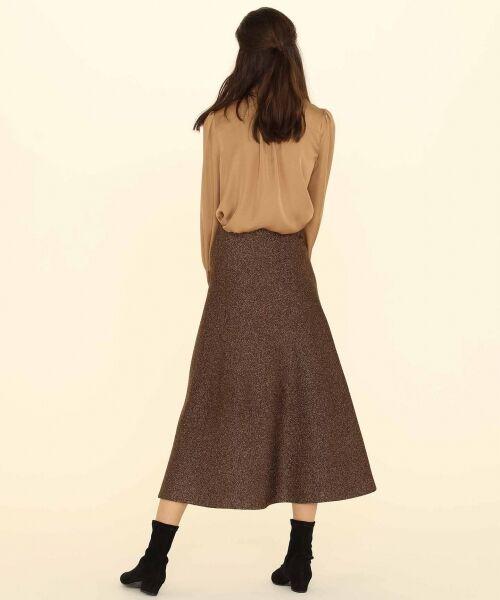 GRACE CONTINENTAL / グレースコンチネンタル ミニ・ひざ丈スカート | ラメニットスカート | 詳細9