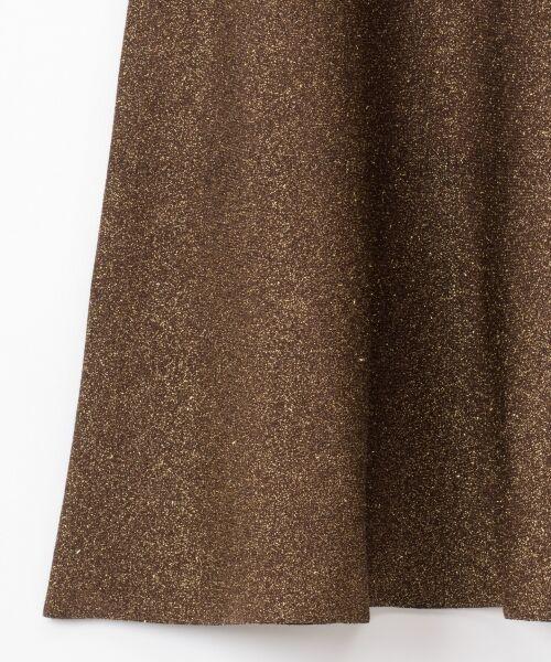 GRACE CONTINENTAL / グレースコンチネンタル ミニ・ひざ丈スカート | ラメニットスカート | 詳細12