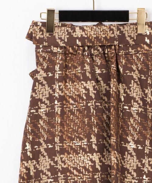 GRACE CONTINENTAL / グレースコンチネンタル ミニ・ひざ丈スカート | ラメチェックジャガードフレアスカート | 詳細8