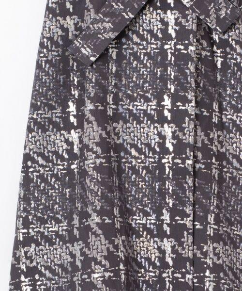GRACE CONTINENTAL / グレースコンチネンタル ミニ・ひざ丈スカート | ラメチェックジャガードフレアスカート | 詳細10