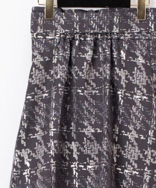 GRACE CONTINENTAL / グレースコンチネンタル ミニ・ひざ丈スカート | ラメチェックジャガードフレアスカート | 詳細13