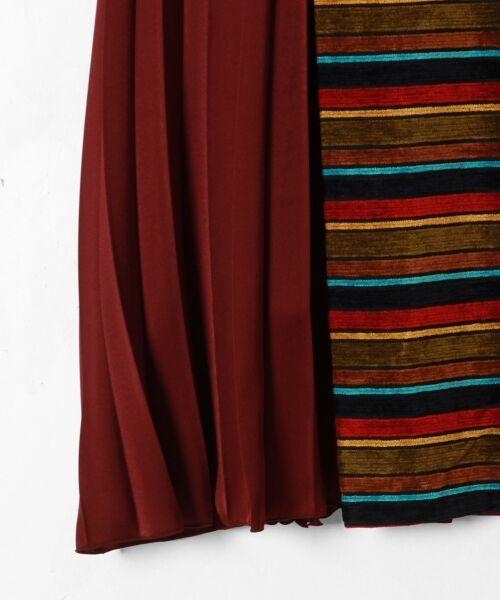 GRACE CONTINENTAL / グレースコンチネンタル ミニ・ひざ丈スカート | ボーダー切替プリーツスカート | 詳細6
