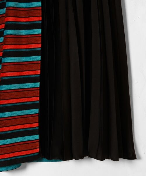 GRACE CONTINENTAL / グレースコンチネンタル ミニ・ひざ丈スカート | ボーダー切替プリーツスカート | 詳細16