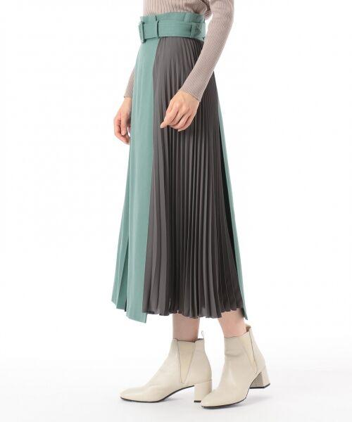 GRACE CONTINENTAL / グレースコンチネンタル ミニ・ひざ丈スカート | 配色マチプリーツスカート | 詳細2