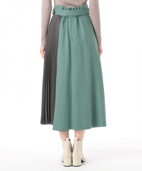 GRACE CONTINENTAL / グレースコンチネンタル ミニ・ひざ丈スカート | 配色マチプリーツスカート | 詳細3