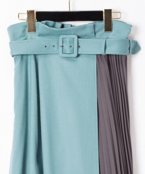 GRACE CONTINENTAL / グレースコンチネンタル ミニ・ひざ丈スカート | 配色マチプリーツスカート | 詳細5