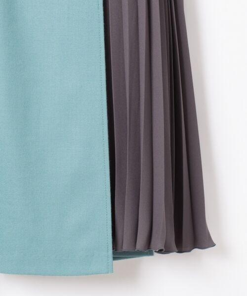 GRACE CONTINENTAL / グレースコンチネンタル ミニ・ひざ丈スカート | 配色マチプリーツスカート | 詳細6