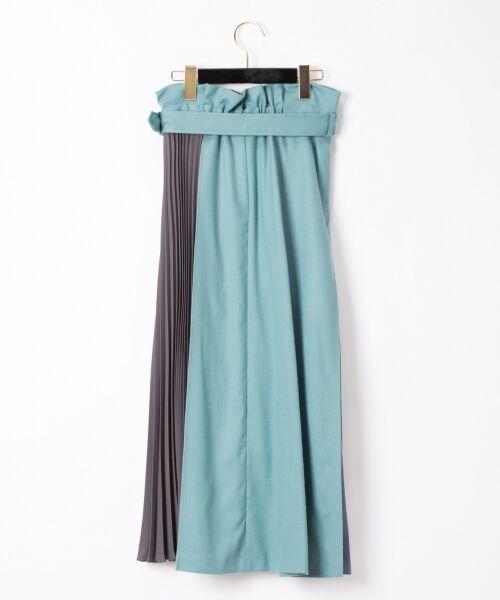 GRACE CONTINENTAL / グレースコンチネンタル ミニ・ひざ丈スカート | 配色マチプリーツスカート | 詳細7