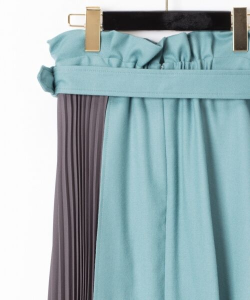 GRACE CONTINENTAL / グレースコンチネンタル ミニ・ひざ丈スカート | 配色マチプリーツスカート | 詳細8
