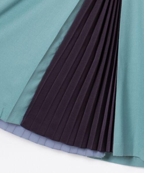 GRACE CONTINENTAL / グレースコンチネンタル ミニ・ひざ丈スカート | 配色マチプリーツスカート | 詳細10