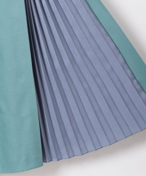 GRACE CONTINENTAL / グレースコンチネンタル ミニ・ひざ丈スカート | 配色マチプリーツスカート | 詳細11