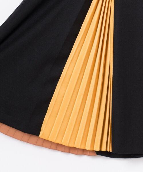 GRACE CONTINENTAL / グレースコンチネンタル ミニ・ひざ丈スカート | 配色マチプリーツスカート | 詳細22