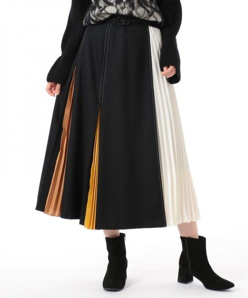 GRACE CONTINENTAL / グレースコンチネンタル ミニ・ひざ丈スカート | 配色マチプリーツスカート | 詳細24
