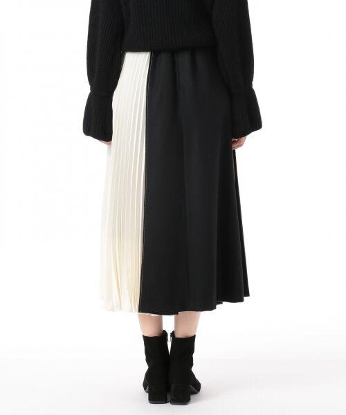 GRACE CONTINENTAL / グレースコンチネンタル ミニ・ひざ丈スカート | 配色マチプリーツスカート | 詳細26