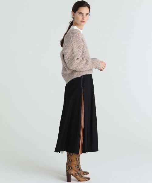 GRACE CONTINENTAL / グレースコンチネンタル ミニ・ひざ丈スカート | 配色マチプリーツスカート | 詳細14