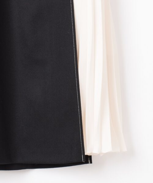 GRACE CONTINENTAL / グレースコンチネンタル ミニ・ひざ丈スカート | 配色マチプリーツスカート | 詳細18