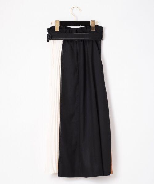 GRACE CONTINENTAL / グレースコンチネンタル ミニ・ひざ丈スカート | 配色マチプリーツスカート | 詳細19