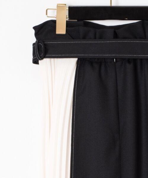 GRACE CONTINENTAL / グレースコンチネンタル ミニ・ひざ丈スカート | 配色マチプリーツスカート | 詳細20