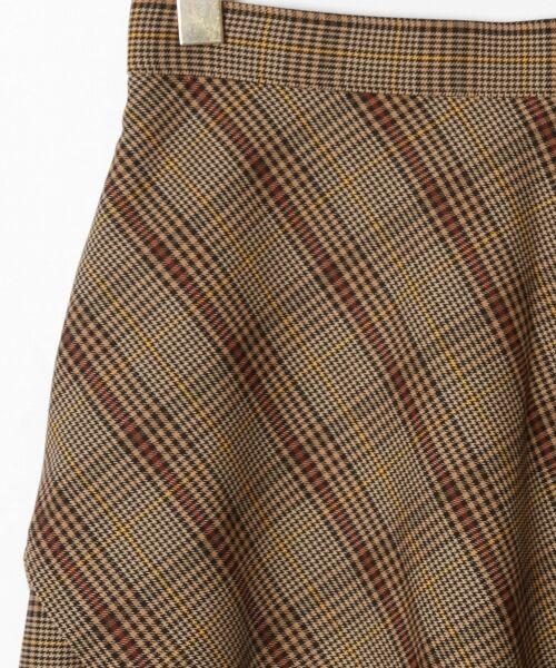 GRACE CONTINENTAL / グレースコンチネンタル ミニ・ひざ丈スカート | アシメチェックスカート | 詳細5