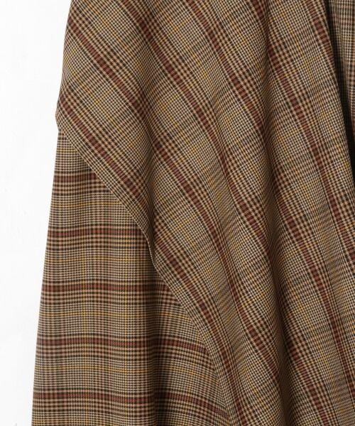 GRACE CONTINENTAL / グレースコンチネンタル ミニ・ひざ丈スカート | アシメチェックスカート | 詳細6