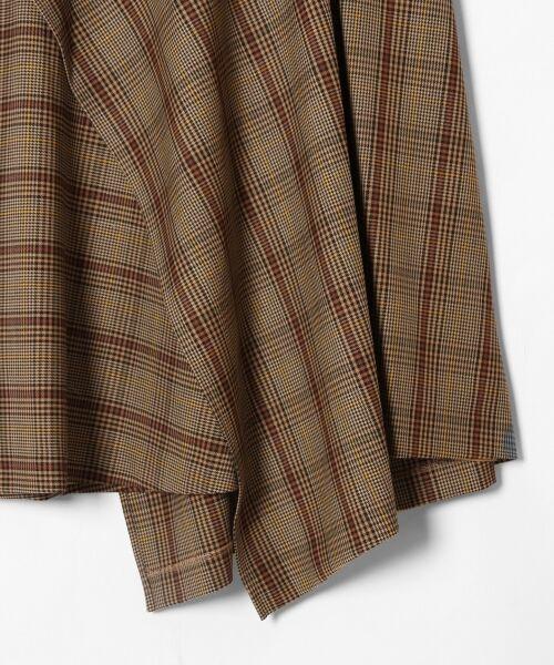 GRACE CONTINENTAL / グレースコンチネンタル ミニ・ひざ丈スカート | アシメチェックスカート | 詳細7