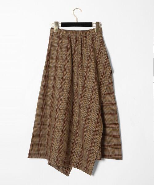 GRACE CONTINENTAL / グレースコンチネンタル ミニ・ひざ丈スカート | アシメチェックスカート | 詳細8