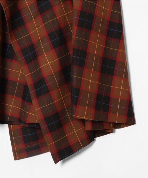 GRACE CONTINENTAL / グレースコンチネンタル ミニ・ひざ丈スカート | アシメチェックスカート | 詳細10