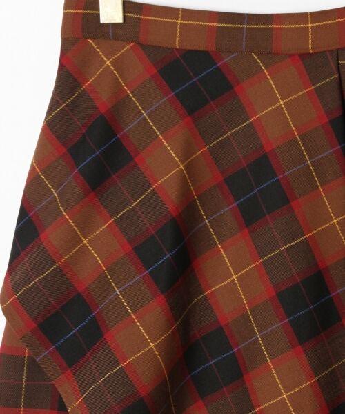 GRACE CONTINENTAL / グレースコンチネンタル ミニ・ひざ丈スカート | アシメチェックスカート | 詳細9