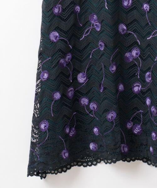 GRACE CONTINENTAL / グレースコンチネンタル ドレス | チェリーレースドレス | 詳細3