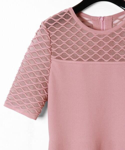 GRACE CONTINENTAL / グレースコンチネンタル ドレス | シアーニットドレス | 詳細2