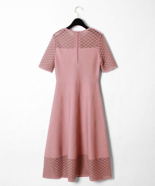 GRACE CONTINENTAL / グレースコンチネンタル ドレス | シアーニットドレス | 詳細4