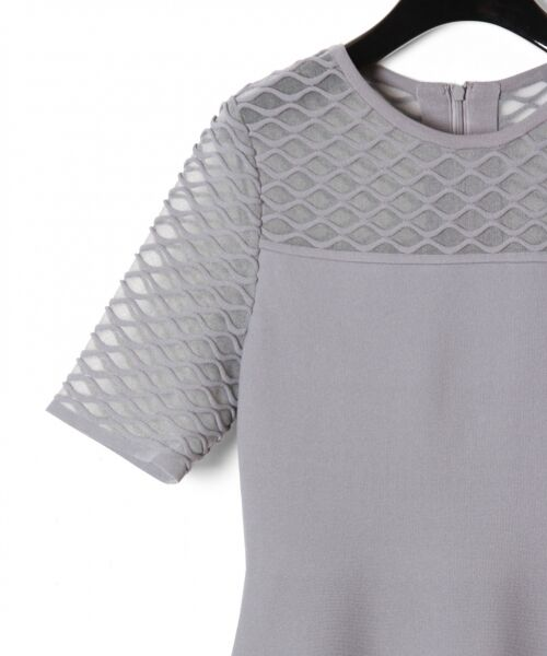 GRACE CONTINENTAL / グレースコンチネンタル ドレス | シアーニットドレス | 詳細10