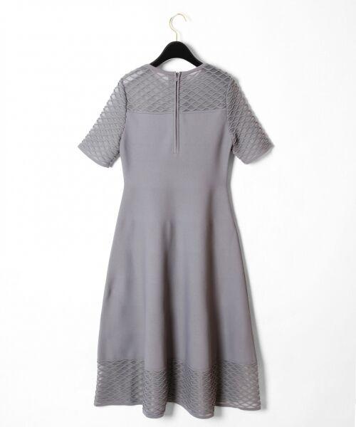 GRACE CONTINENTAL / グレースコンチネンタル ドレス | シアーニットドレス | 詳細12