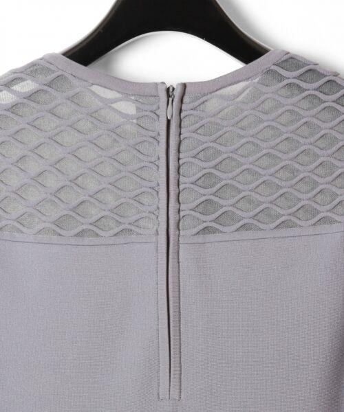 GRACE CONTINENTAL / グレースコンチネンタル ドレス | シアーニットドレス | 詳細13