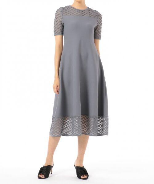 GRACE CONTINENTAL / グレースコンチネンタル ドレス | シアーニットドレス | 詳細6
