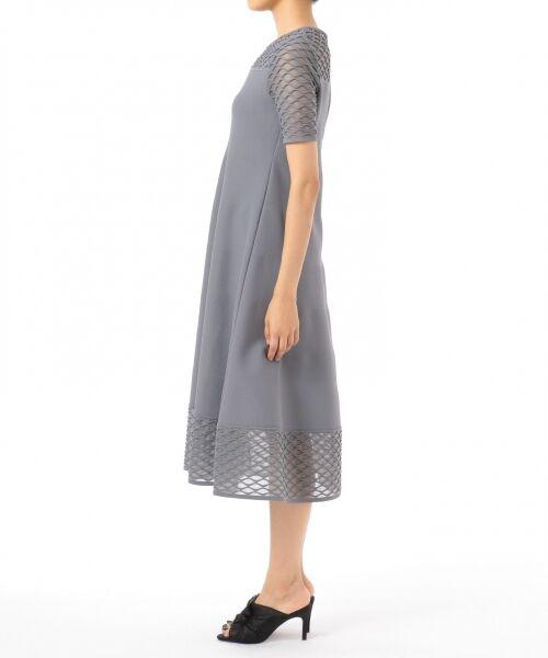 GRACE CONTINENTAL / グレースコンチネンタル ドレス | シアーニットドレス | 詳細7