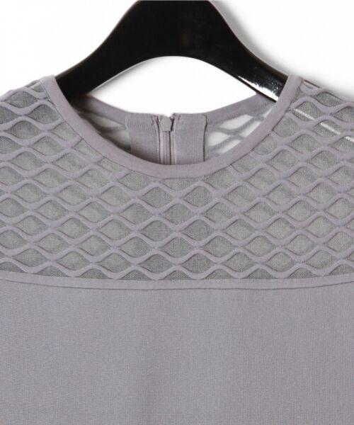 GRACE CONTINENTAL / グレースコンチネンタル ドレス | シアーニットドレス | 詳細9